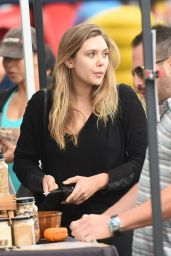 Elizabeth Olsen at a Farmer