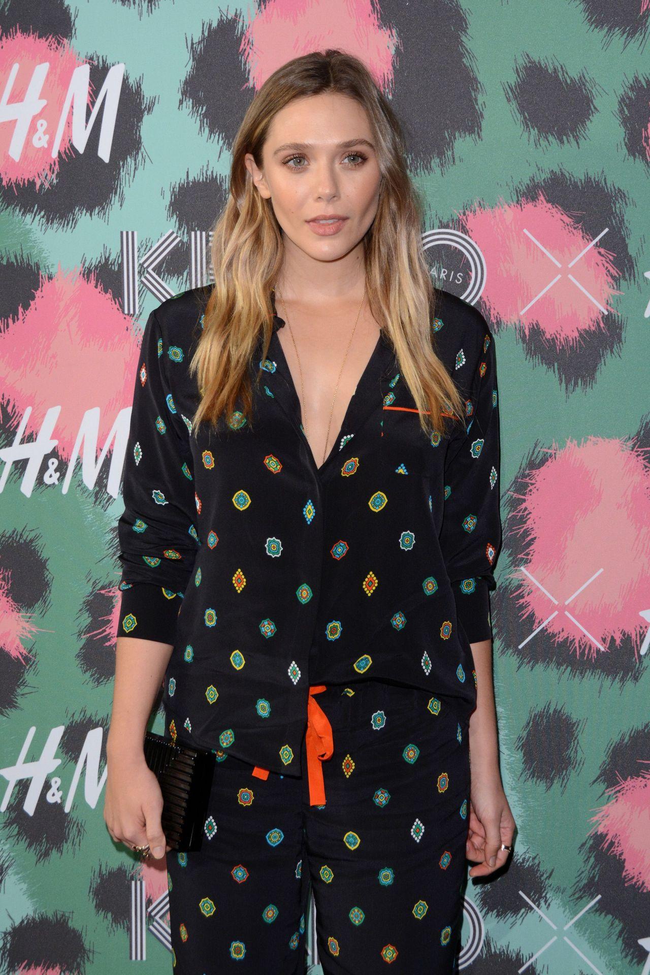 Celebrities-Trands: Elizabeth Olsen – KENZO x H&M Launch ...
