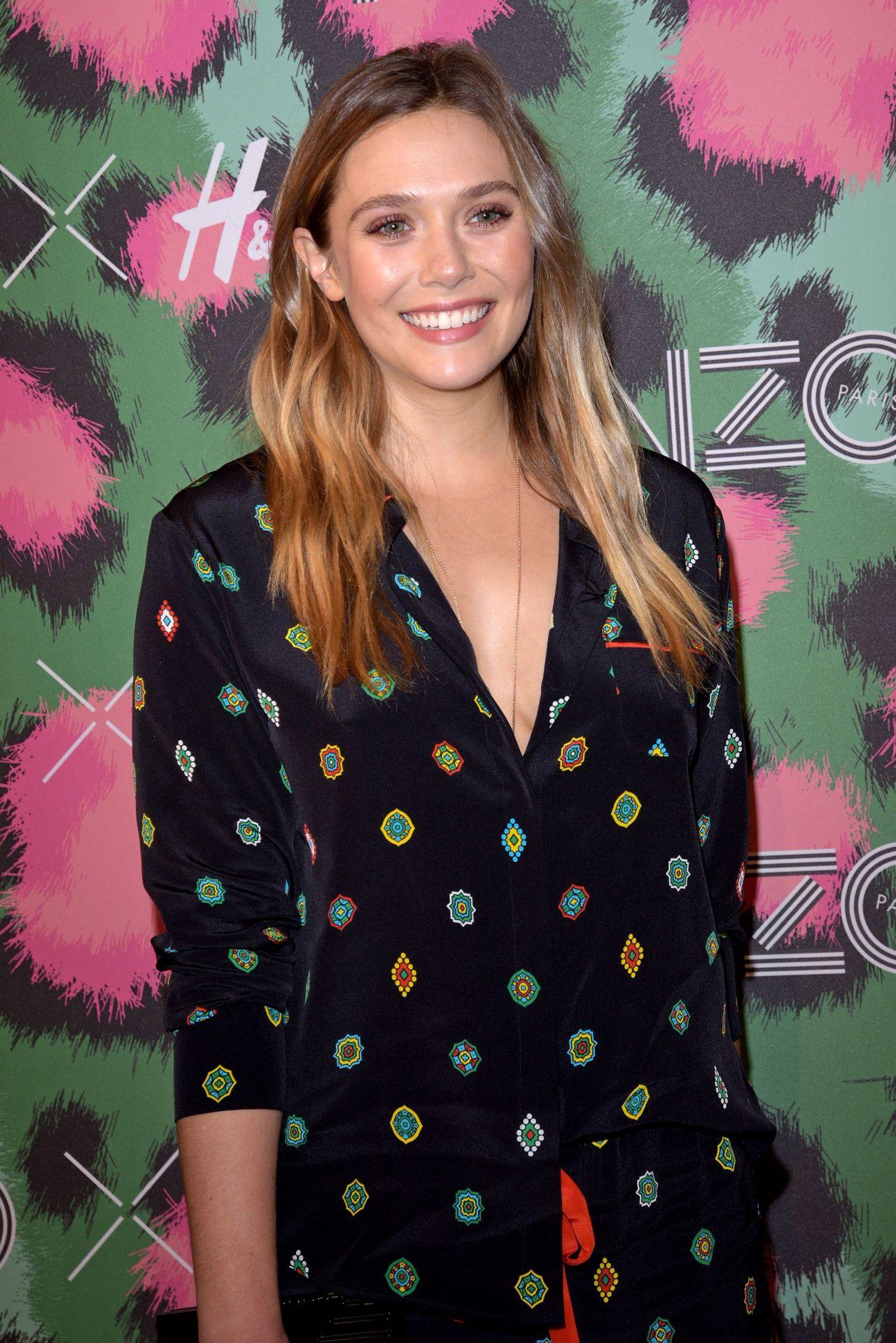 Elizabeth Olsen Kenzo X H Amp M Launch Event In New York