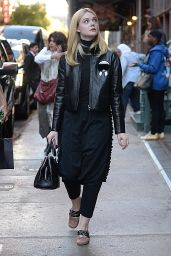 Elle Fanning Autumn Outfit Ideas - New York City 10/7/2016