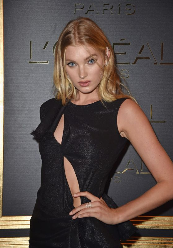 Elsa Hosk at Gold Obsession Party – Paris Fashion Week 10/2/2016