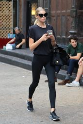 Elsa Hosk in Spandex - Out in New York City 10/8/2016