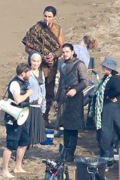 Emilia Clarke on the Set of