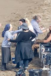 Emilia Clarke on the Set of