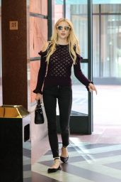 Emma Roberts Arrives a Doctor