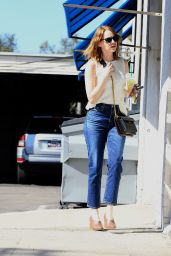 Emma Stone - Stops For Starbucks in Los Angeles, CA 10/25/ 2016