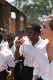 Emma Watson in Malawi, Africa 10/10/2016