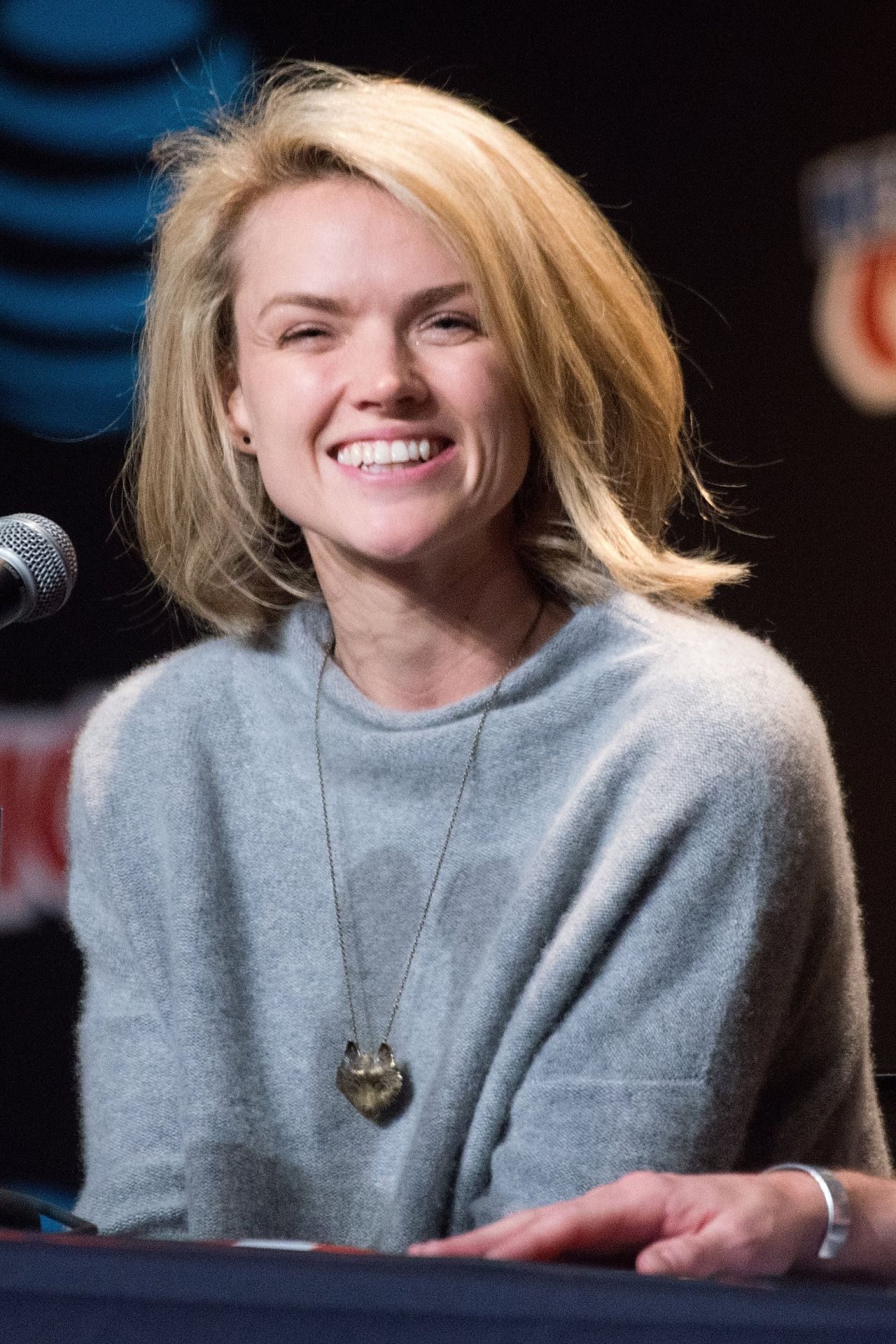 photo Erin richards gotham panel at new york comic con