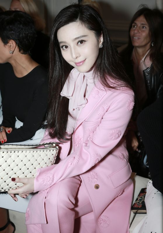 Fan Bingbing at Valentino Show Womenswear Spring/Summer 2017 at Paris Fashion Week 10/2/2016