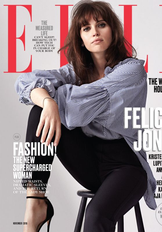 Felicity Jones - Elle Magazine November 2016 Cover