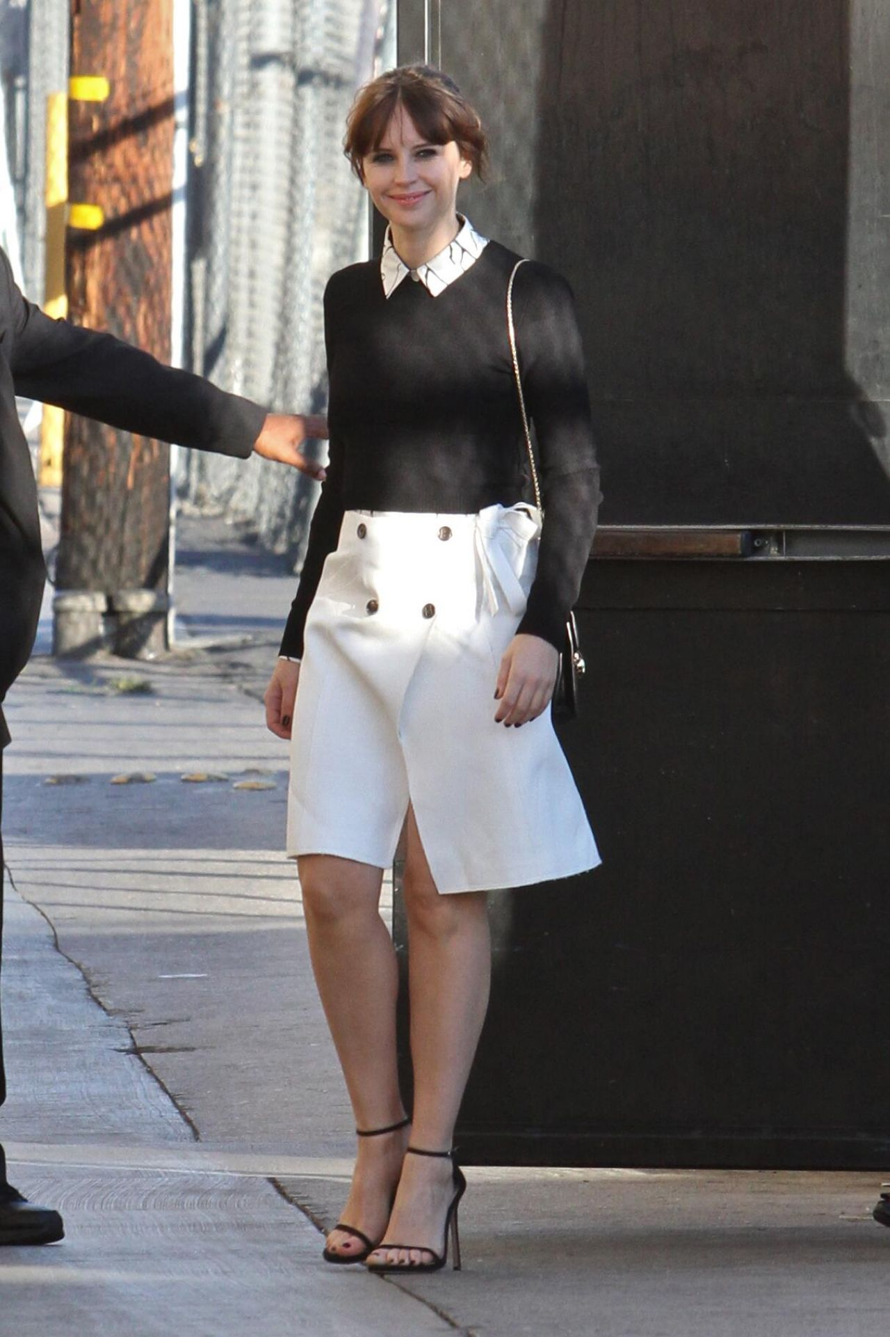 Felicity Jones Outside Jimmy Kimmel Live In Hollywood