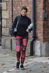 Gemma Atkinson in Spandex - Leaving Key 103 Radio Station in Manchester 10/5/2016