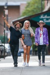 Gigi Gorgeous Leggy in Shorts - Out and About in New York 10/19/2016