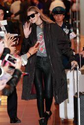 Gigi Hadid at Haneda Airport in Tokyo 10/11/2016