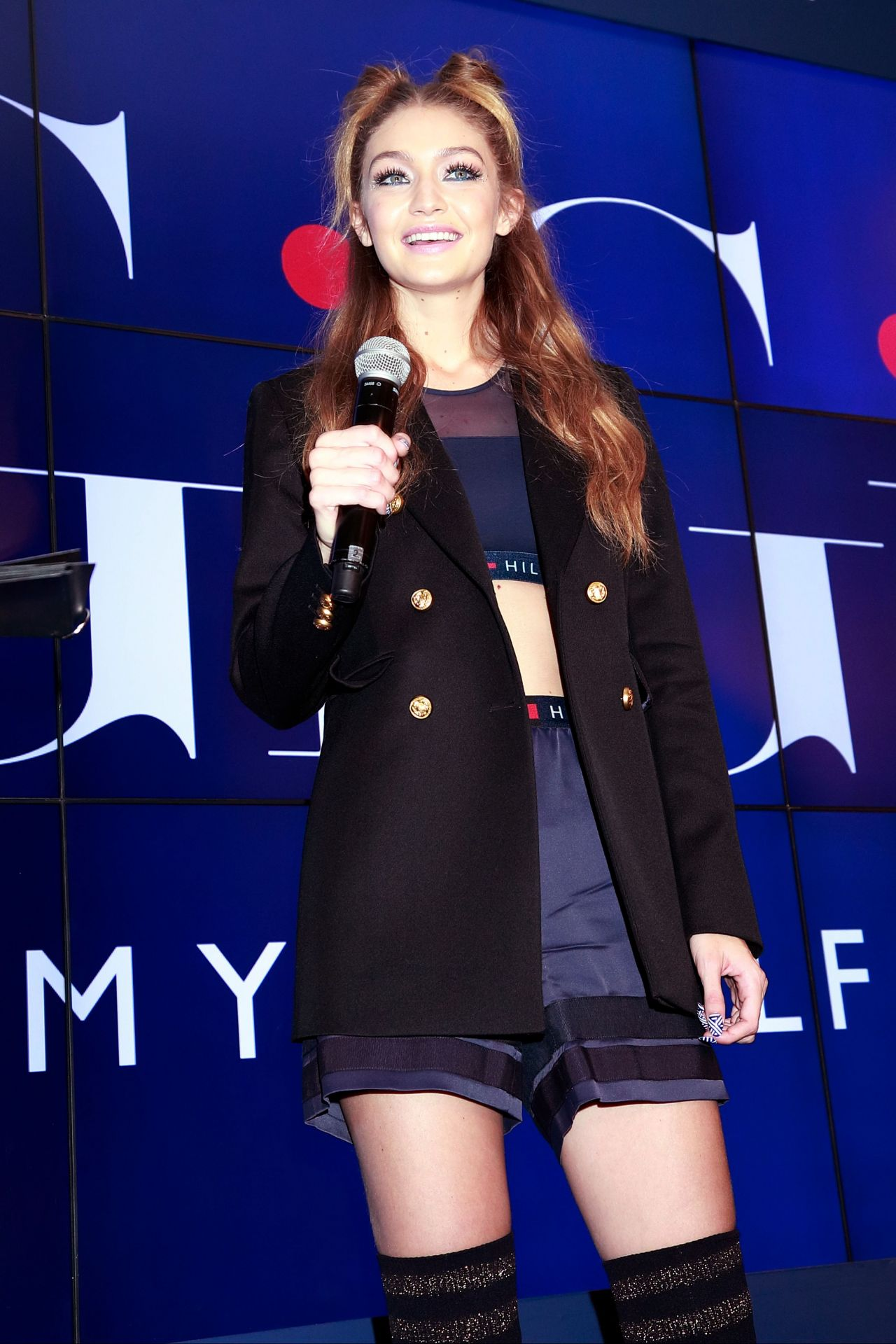 gigi hadid 39 tommy x gigi 39 collection launch in tokyo 10 12 2016. Black Bedroom Furniture Sets. Home Design Ideas