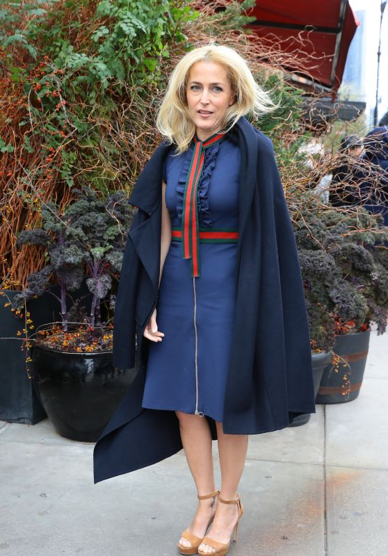 Gillian Anderson in New York City 10/25/ 2016