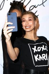 Hailey Baldwin - Karl Lagerfeld Paris Collection Launch Event in New York 10/18/2016