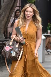 Hilary Duff at 901 Hair Salon in Los Angeles 10/27/ 2016