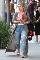 Hilary Duff at The Four Seasons Hotel in Beverly Hills 10/15/ 2016