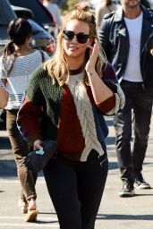 Hilary Duff CAsual Style - Farmers Market in Los Angeles 10/11/2016