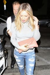 Hilary Duff -in Ripped Jeans - at Catch L.A. in West Hollywood 10/6/2016