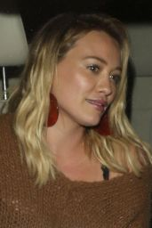 Hilary Duff Night Out Style - Leaving Catch in West Hollywood - 10/03/2016