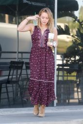 Hilary Duff - Stops for Some Coffee in Studio City 10/19/2016