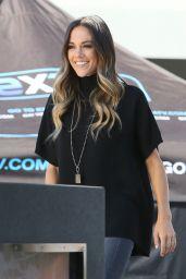 Jana Kramer at Extra at Universal Studios in Hollywood, October 2016
