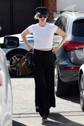January Jones at Meche Salon in Los Angeles 10/19/ 2016