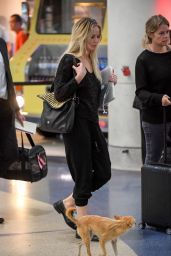 Jennifer Lawrence at the Airport With Her Dog in New York 10/29/ 2016
