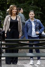 Jennifer Lopez & Sarah Jeffery - Filming at the