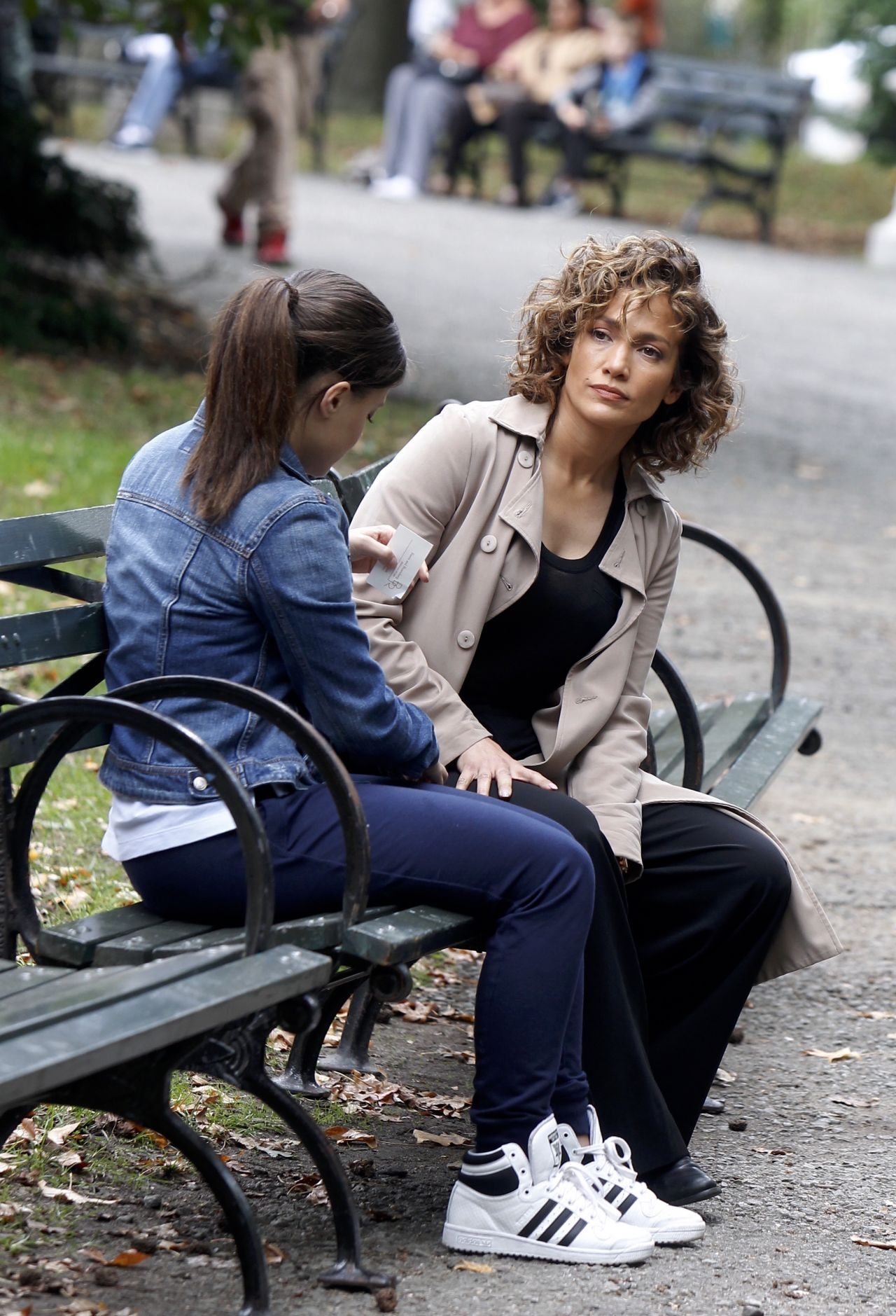 Jennifer Lopez Amp Sarah Jeffery Filming At The Shades Of