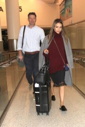 Jessica Alba at LAX 10/11/2016