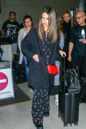 Jessica Alba at LAX Airport in Los Angeles 10/18/ 2016