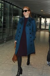 Jessica Chastain at Heathrow Airport in London, UK 10/25/ 2016
