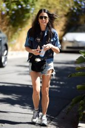 Jessica Gomes in Ripped Jeans Shorts - Arriving on the set of Her New Movie in LA 10/3/2016