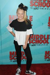 JoJo Siwa – 'Middle School: The Worst Years of My Life' Premiere in Los Angeles 10/05/2016