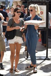 Julianne Hough Street Style - Gets a Pizza in Los Angeles 10/9/ 2016