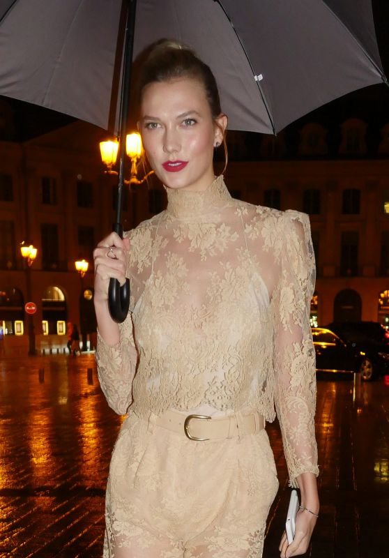 Karlie Kloss at the Hotel Ritz in Paris 9/30/2016