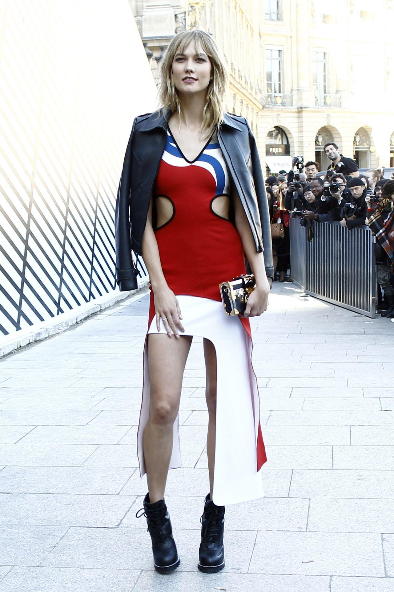 Karlie Kloss Chic Outfit – Louis Vuitton Show at Paris ...