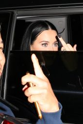 Katy Perry - Does a Obscene Hand Gesture as She Leaves New Club Delilah in West Hollywood