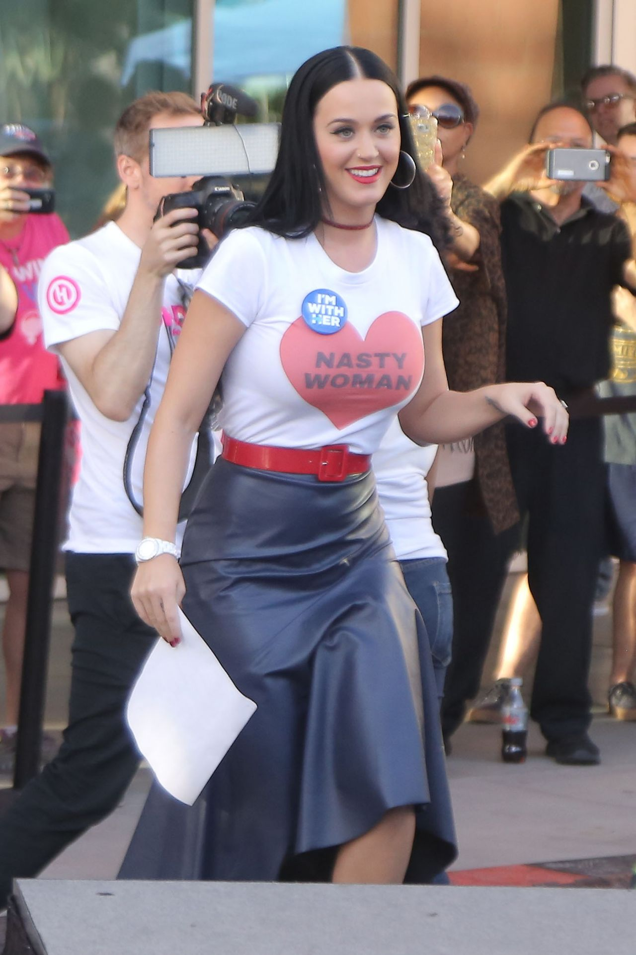 Katy Perry - Wears T-Shirt That Reads Nasty Woman At -1348