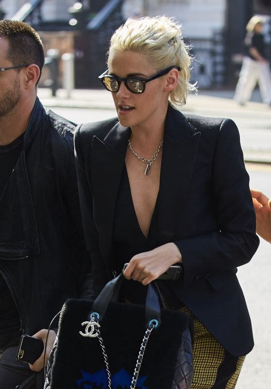 Kristen Stewart With a Chanel Bag - NYC 10/6/2016