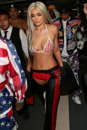 Kylie Jenner Dressed as Dirrty X-Tina Party at Bootsy Bellows in Los Angeles