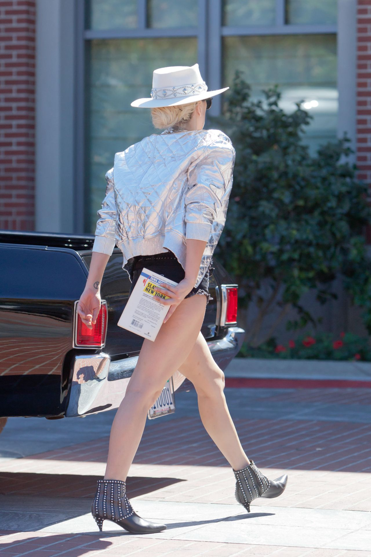 Lady Gaga Shows Off Her Legs Out In Westlake Village 10