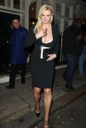 Lara Stone at Marks Private Members Club in London, 10/28/ 2016
