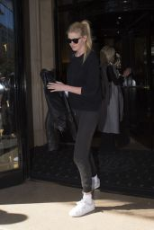 Lara Stone - Leaving Her Hotel in Paris 10/3/2016