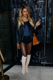 Laverne Cox - Leaving Catch Restaurant on Melrose in Los Angeles 10/12/2016
