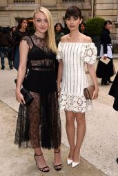 Lily Collins & Dakota Fanning - Valentino Show - Paris Fashion Week 10/2/2016