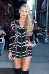 Lindsey Vonn - Arrives to
